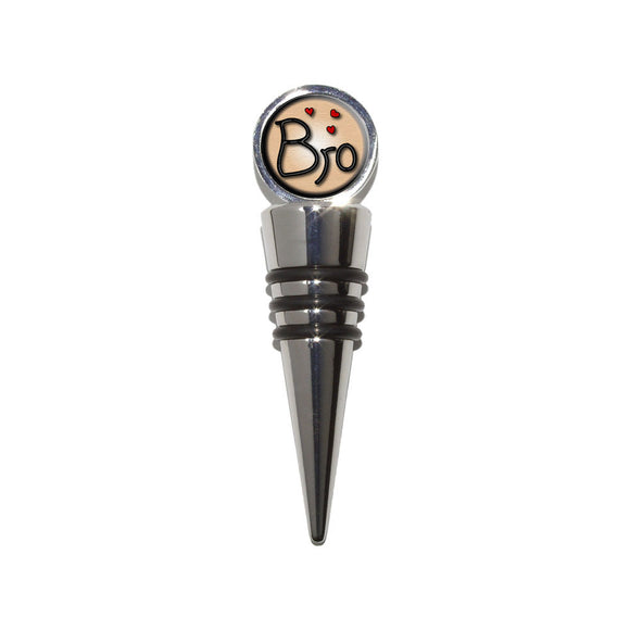 Bro Brother Love Hearts Wine Bottle Stopper Cork