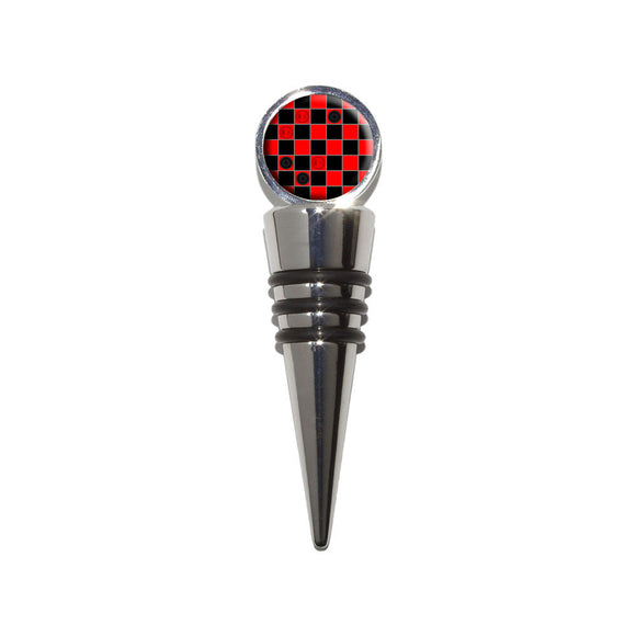 Checkers Anyone Checkerboard Wine Bottle Stopper Cork