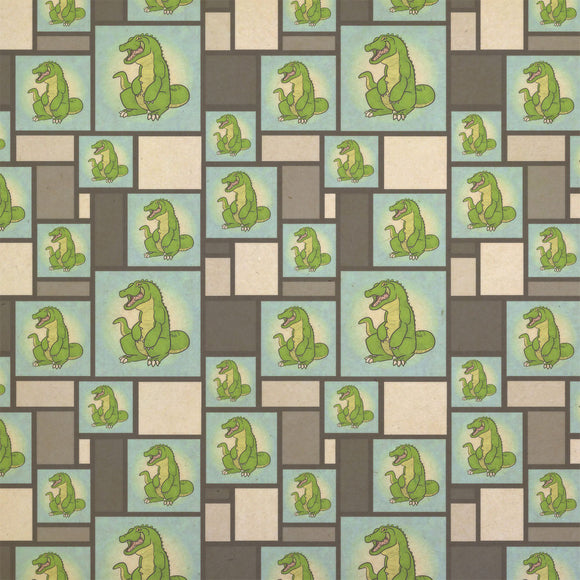 Happy Alligator Kraft Present Gift Wrap Wrapping Paper