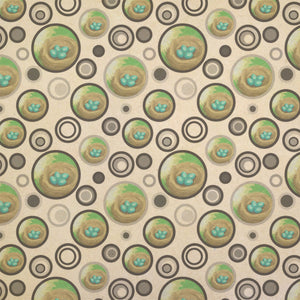 Robin's Nest with Eggs Kraft Present Gift Wrap Wrapping Paper