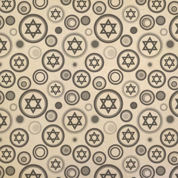 Star of David Kraft Present Gift Wrap Wrapping Paper