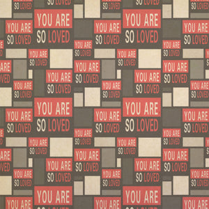 You Are So Loved Kraft Present Gift Wrap Wrapping Paper