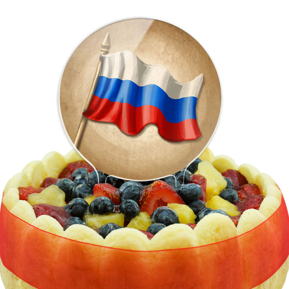 Vintage Russian Flag - Russia Cake Top Topper