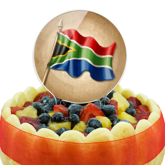 Vintage South African Flag - South Africa Cake Top Topper