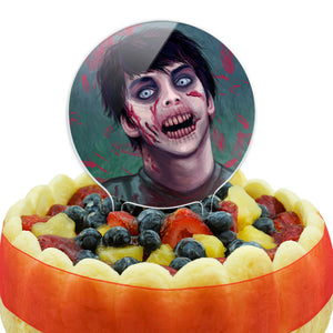 Zombified Boy Cake Top Topper