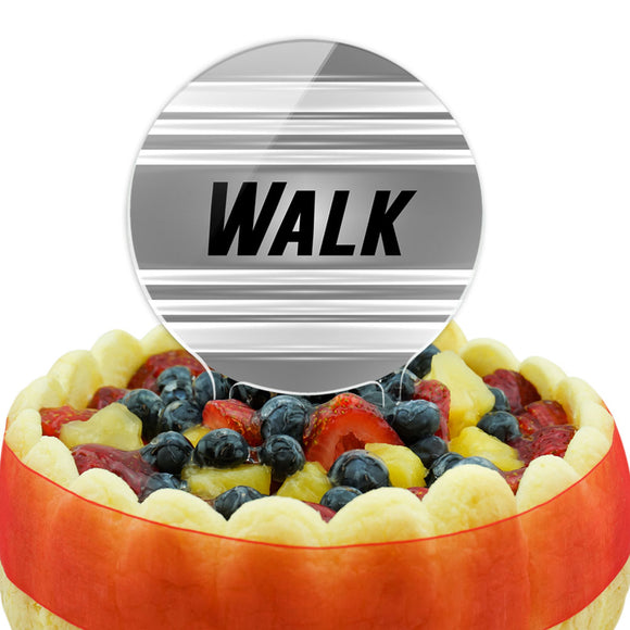 Walk Keeping Fit at My Pace Cake Top Topper