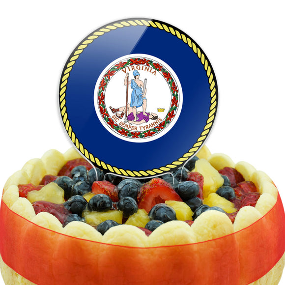 Virginia State Flag Cake Top Topper