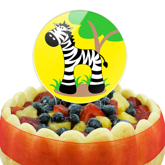Zebra And Tree Cute Cake Top Topper