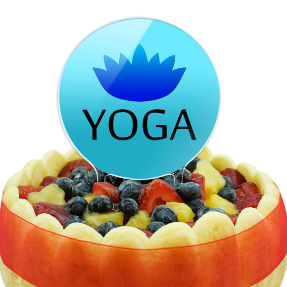 Yoga Lotus Flower Cake Top Topper