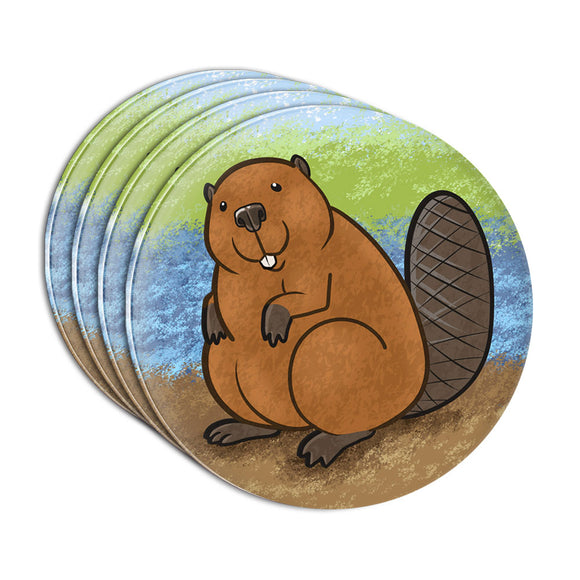 Beaver Acrylic Coaster Set of 4