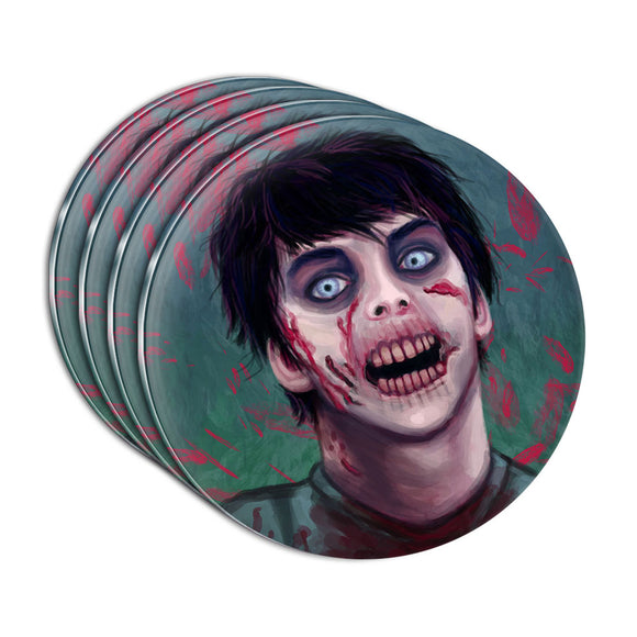 Zombified Boy Acrylic Coaster Set of 4