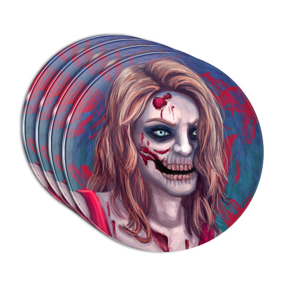 Zombified Girl Acrylic Coaster Set of 4