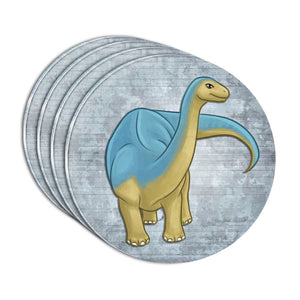 Admirable Apatosaurus Acrylic Coaster Set of 4