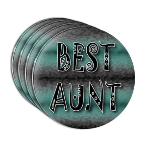 Best Aunt Admiration Respect Acrylic Coaster Set of 4