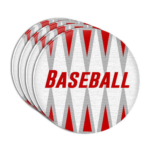 Baseball Let's Go to the Ballgame Acrylic Coaster Set of 4