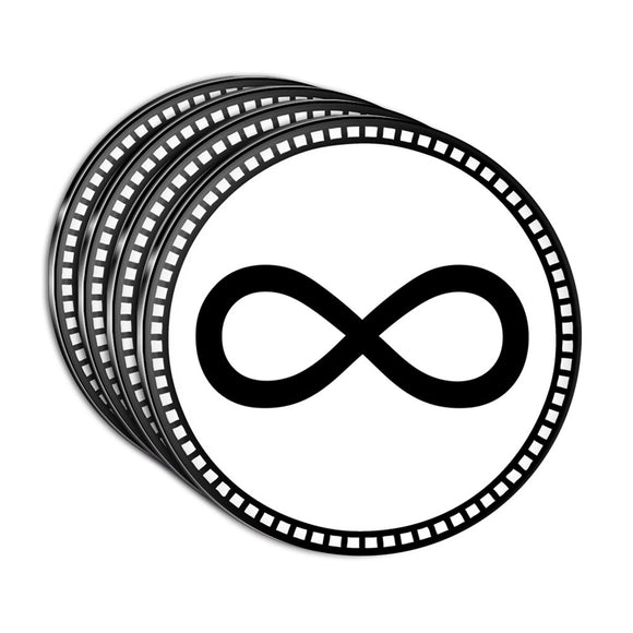Infinity Symbol Acrylic Coaster Set of 4