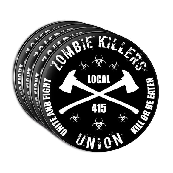 Zombie Killers Union Acrylic Coaster Set of 4