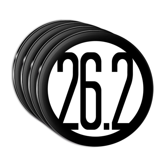 26.2 Miles Marathon Black Acrylic Coaster Set of 4