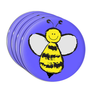 Busy As A Bee Acrylic Coaster Set of 4