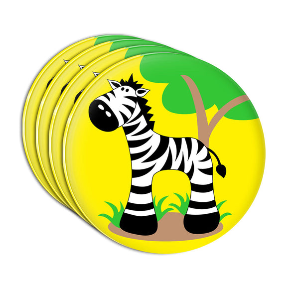 Zebra And Tree Cute Acrylic Coaster Set of 4