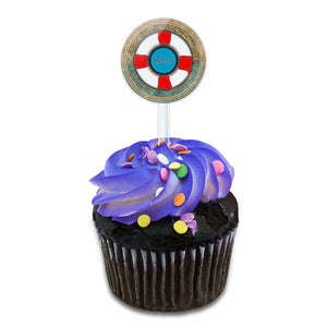 Lifesaver Ahoy! Nautical Theme  Cake Cupcake Toppers Picks Set