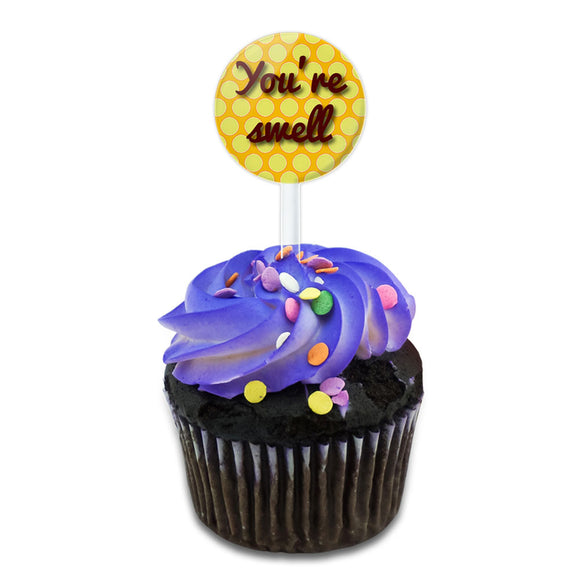 You're Swell Polka Dot Fun and Friends Cake Cupcake Toppers Picks Set