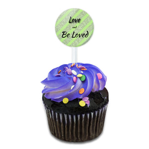 Love and Be Loved That's the Secret Cake Cupcake Toppers Picks Set