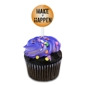 Make It Happen It's Your Destiny Cake Cupcake Toppers Picks Set