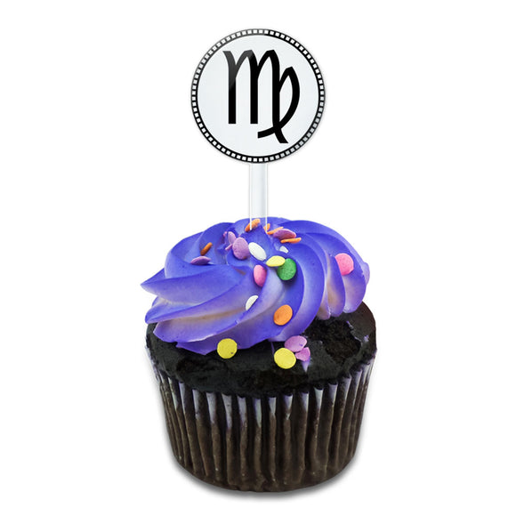 Zodiac Sign Virgo Cake Cupcake Toppers Picks Set