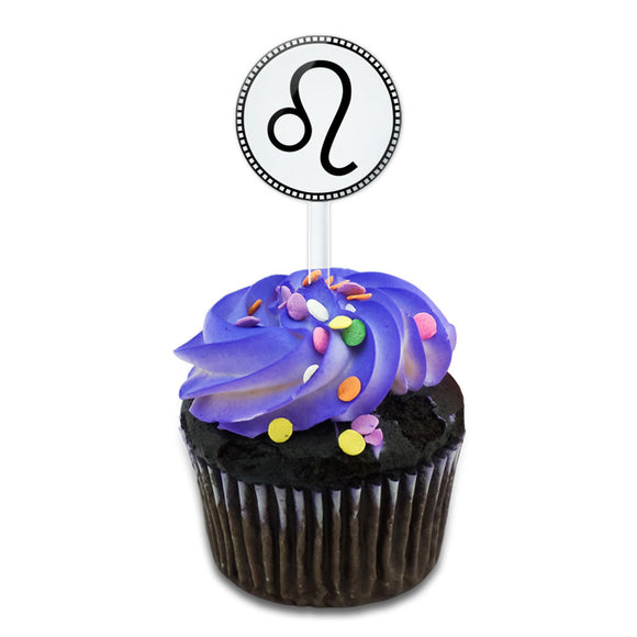Zodiac Sign Leo Cake Cupcake Toppers Picks Set