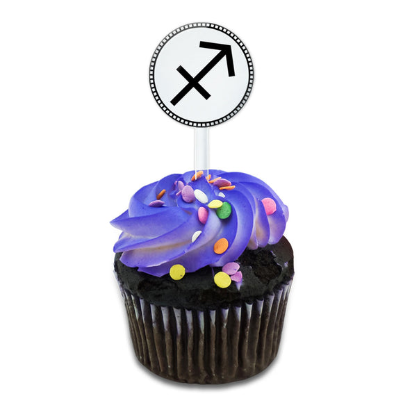 Zodiac Sign Sagittarius Cake Cupcake Toppers Picks Set
