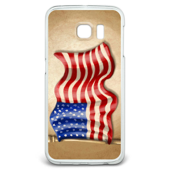 Vintage American Flag Slim Fit Case Fits Samsung Galaxy S6 Edge