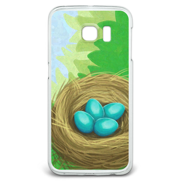 Robins Nest with Eggs Slim Fit Case Fits Samsung Galaxy S6 Edge