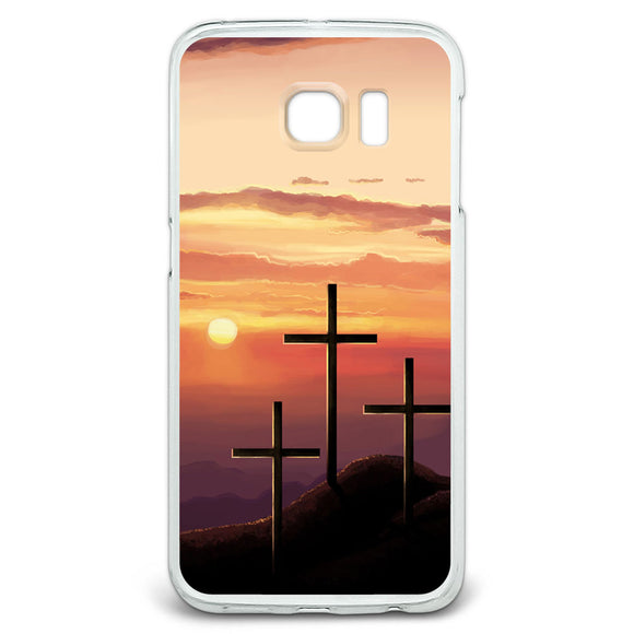 Three Crosses on Hill Slim Fit Case Fits Samsung Galaxy S6 Edge
