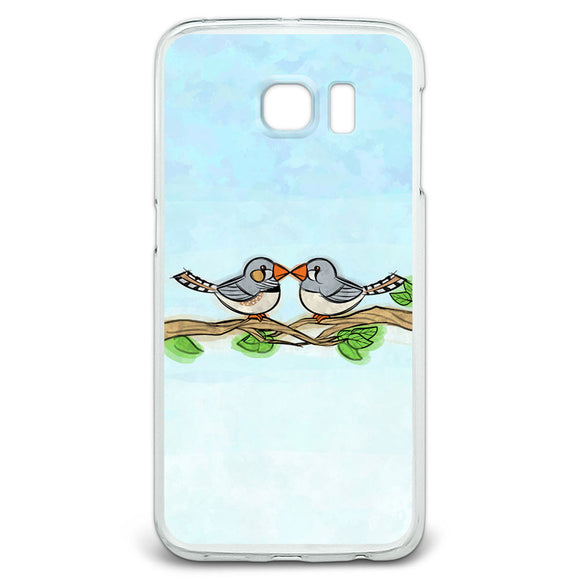 Zebra Finches Kissing Slim Fit Case Fits Samsung Galaxy S6 Edge