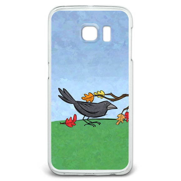 Crow in Autumn Slim Fit Case Fits Samsung Galaxy S6 Edge