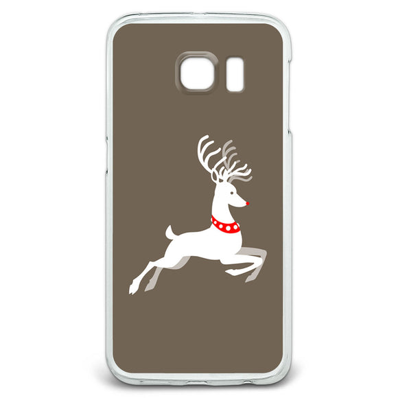 Prancing Reindeer Christmas Slim Fit Case Fits Samsung Galaxy S6 Edge