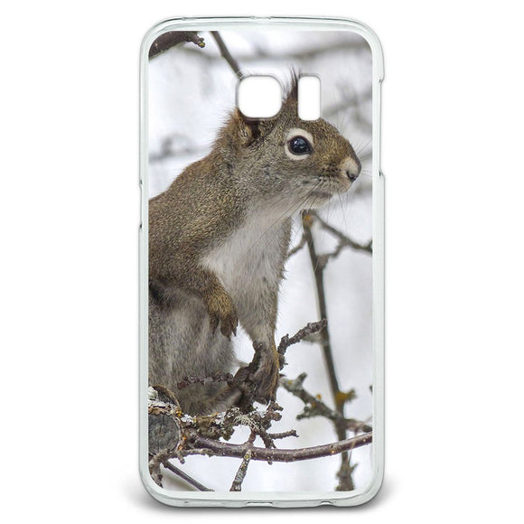 Winter Forest Tree Squirrel Slim Fit Case Fits Samsung Galaxy S6 Edge