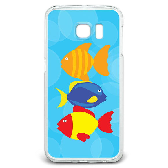 Tropical Fish Slim Fit Case Fits Samsung Galaxy S6 Edge