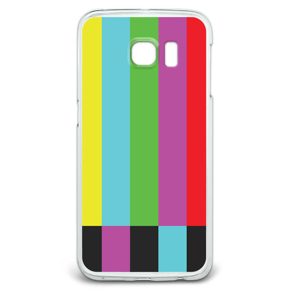Test Television Color Bars Slim Fit Case Fits Samsung Galaxy S6 Edge