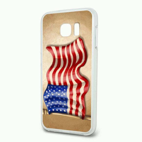 Vintage American Flag Slim Fit Hybrid Case Fits Samsung Galaxy S6