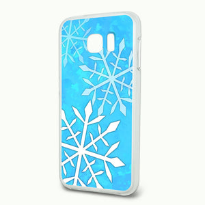 Snowflakes Slim Fit Hybrid Case Fits Samsung Galaxy S6