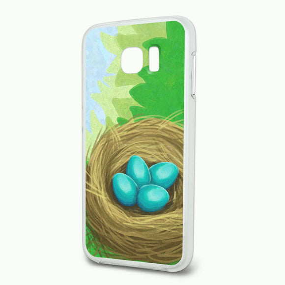 Robins Nest with Eggs Slim Fit Hybrid Case Fits Samsung Galaxy S6