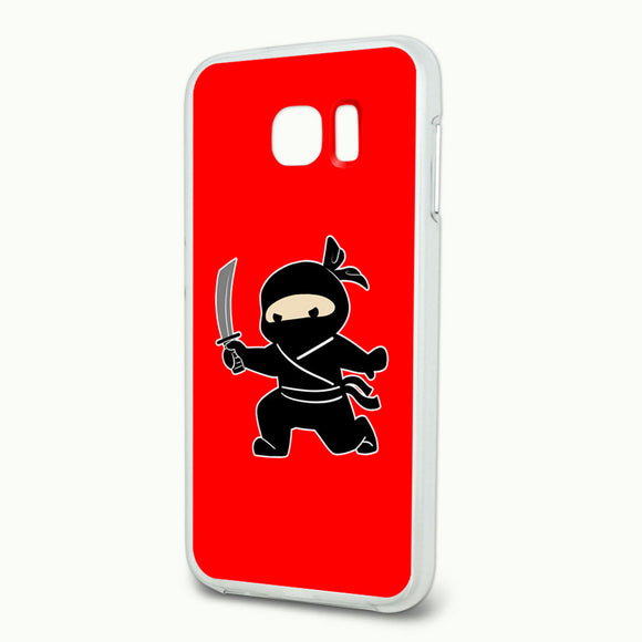 Sneaky Ninja Attacks Slim Fit Hybrid Case Fits Samsung Galaxy S6