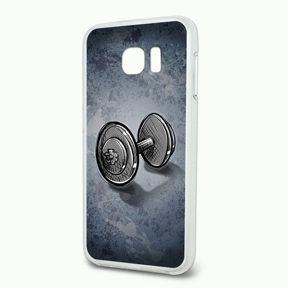 Weight Lifting Dumbbells Slim Fit Hybrid Case Fits Samsung Galaxy S6