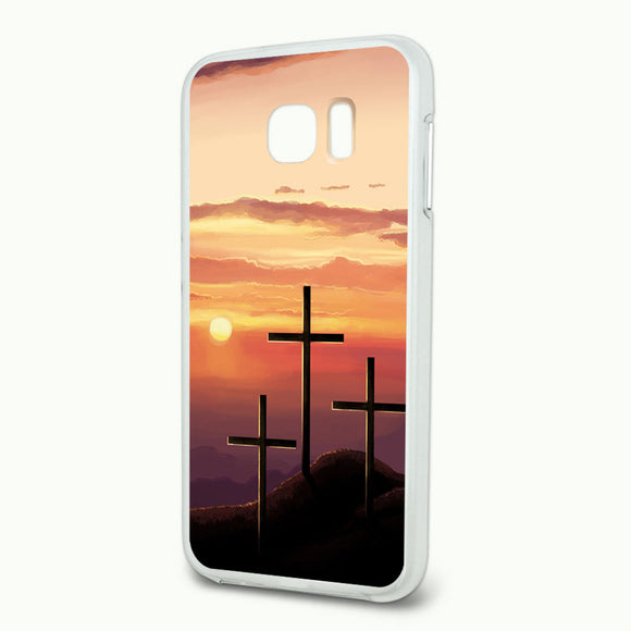 Three Crosses on Hill Slim Fit Hybrid Case Fits Samsung Galaxy S6