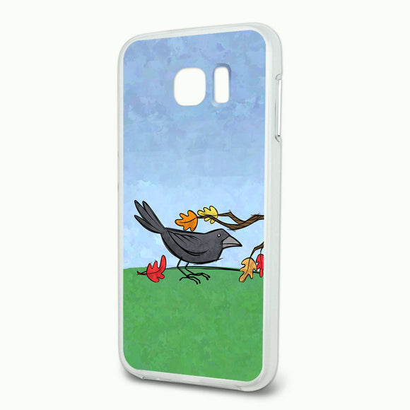 Crow in Autumn Slim Fit Hybrid Case Fits Samsung Galaxy S6