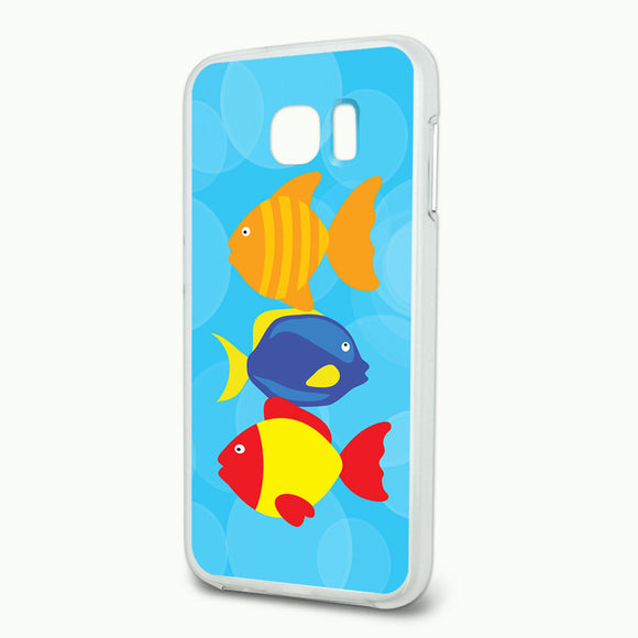 Tropical Fish Slim Fit Hybrid Case Fits Samsung Galaxy S6