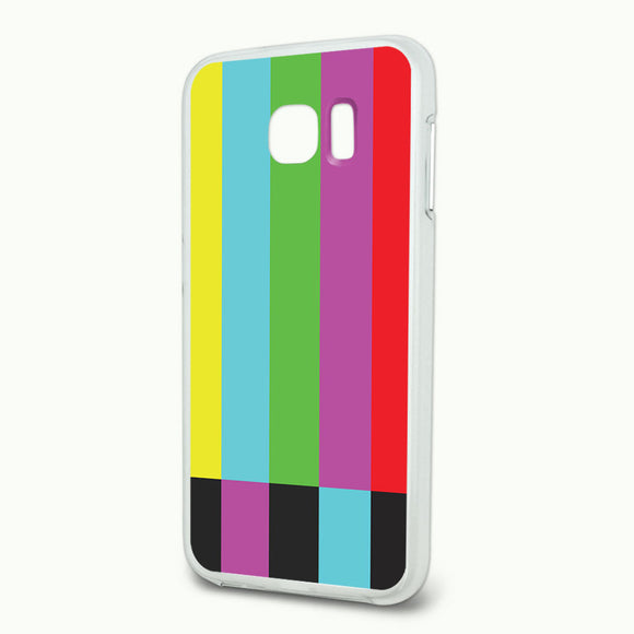 Test Television Color Bars Slim Fit Hybrid Case Fits Samsung Galaxy S6