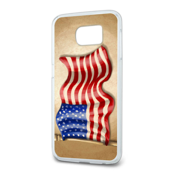 Vintage American Flag Slim Fit Case Fits Samsung Galaxy S6